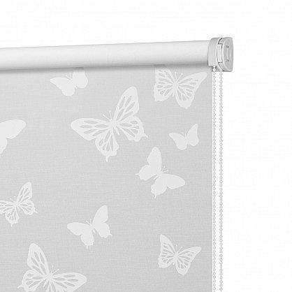 """Рулонная штора ролло """"Бабочки"""", белый (ax-200006-gr), фото 4"""