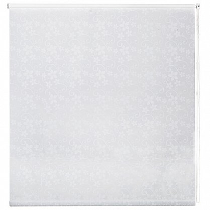 """Рулонная штора ролло бернаут """"Цветы"""", белый, 50 см (ax-100284), фото 3"""
