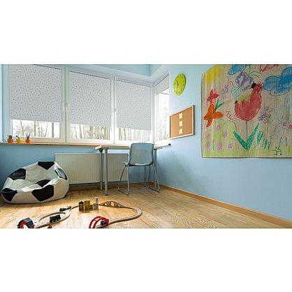 """Рулонная штора ролло блэкаут """"Горошек"""", голубой, 80 см (ax-100326), фото 2"""