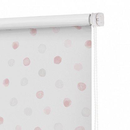 """Рулонная штора ролло блэкаут """"Горошек"""", розовый, 80 см (ax-100321), фото 4"""