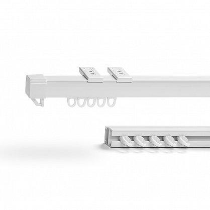 Карниз профильный пластиковый, 1-рядный, белый (ax-200092-gr), фото 1