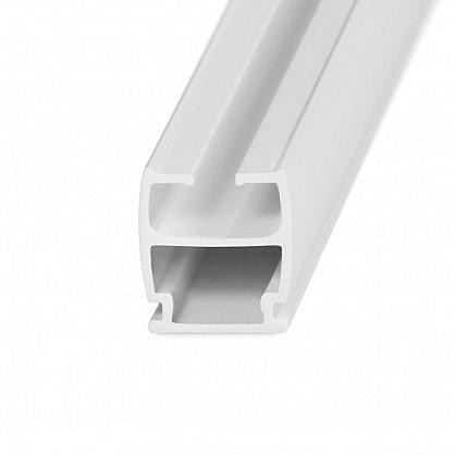 Карниз профильный пластиковый, 1-рядный, белый (ax-200092-gr), фото 2