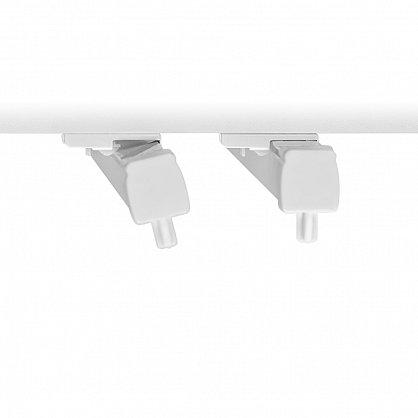 Карниз профильный пластиковый, 1-рядный, белый (ax-200092-gr), фото 3
