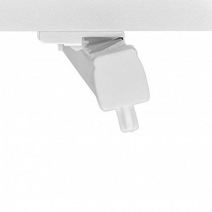Карниз профильный пластиковый, 1-рядный, белый (ax-200092-gr), фото 4