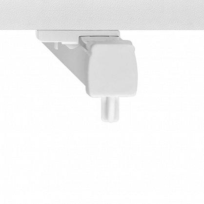 Карниз профильный пластиковый, 1-рядный, белый (ax-200092-gr), фото 5