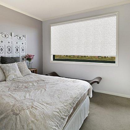 """Рулонная штора ролло burnout """"Нежность"""", белый, 80 см (ax-100201), фото 1"""