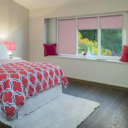 """Рулонная штора ролло """"Пыльная роза"""", розовый, 100 см (ax-100337), фото 1"""