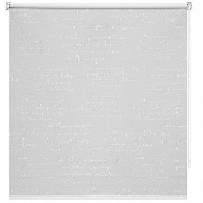 """Рулонная штора ролло """"Письмо"""", белый (ax-200007-gr), фото 3"""