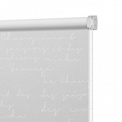 """Рулонная штора ролло """"Письмо"""", белый (ax-200007-gr), фото 4"""