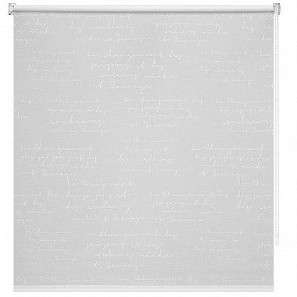 "Рулонная штора ролло ""Письмо"", белый, 80 см (ax-100211), фото 3"