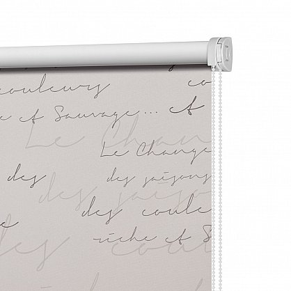 "Рулонная штора ролло блэкаут ""Письмо"", серый, 100 см (ax-100217), фото 4"