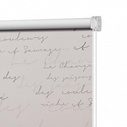 "Рулонная штора ролло блэкаут ""Письмо"", серый, 80 см (ax-100216), фото 4"