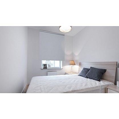 "Рулонная штора ролло ""Однотонная блэкаут"", серебристо-серый, 60 см (ax-100275), фото 2"