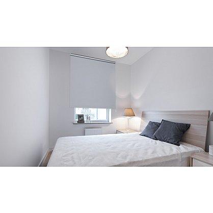 "Рулонная штора ролло ""Однотонная блэкаут"", серебристо-серый, 80 см (ax-100276), фото 2"