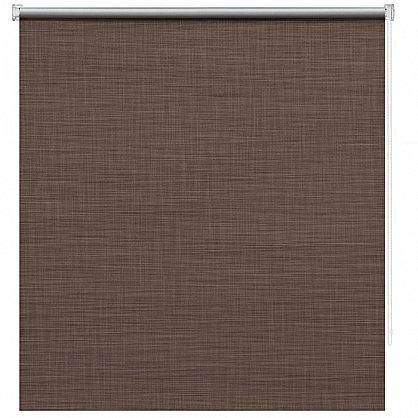"""Рулонная штора ролло блэкаут """"Шантунг"""", коричневый, 80 см (ax-100236), фото 3"""