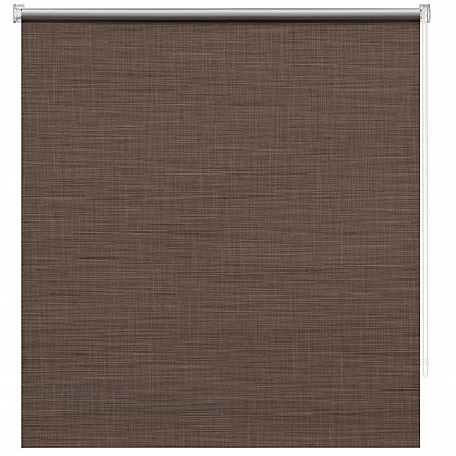 "Рулонная штора ролло блэкаут ""Шантунг"", коричневый (ax-200012-gr), фото 3"