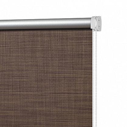 """Рулонная штора ролло блэкаут """"Шантунг"""", коричневый, 60 см (ax-100235), фото 4"""
