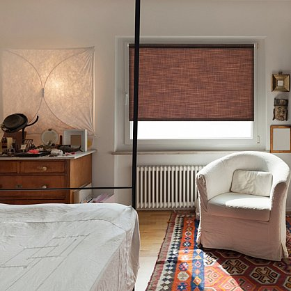 """Рулонная штора ролло """"Шантунг"""", коричневый, 60 см (ax-100220), фото 1"""