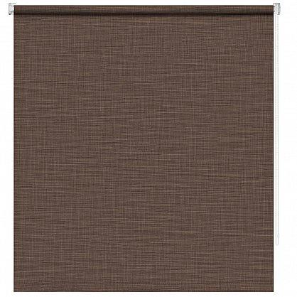 """Рулонная штора ролло """"Шантунг"""", коричневый, 80 см (ax-100221), фото 3"""