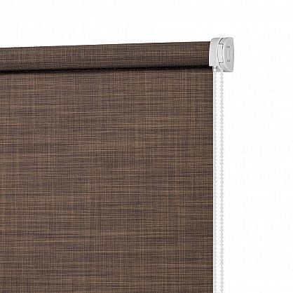"""Рулонная штора ролло """"Шантунг"""", коричневый, 100 см (ax-100222), фото 4"""