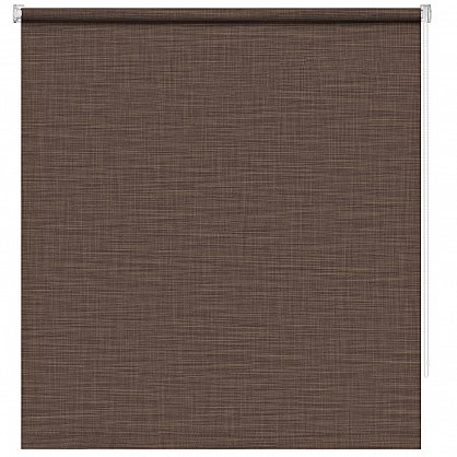 """Рулонная штора ролло """"Шантунг"""", коричневый, 100 см (ax-100222), фото 3"""