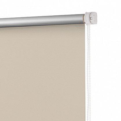 """Рулонная штора ролло блэкаут """"Слоновая кость"""", бежевый, 40 см (ax-100348), фото 4"""