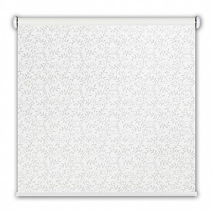 """Рулонная штора ролло принт """"Узоры"""", белый, 40 см (ax-100248), фото 1"""