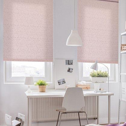 """Рулонная штора ролло """"Волнистые узоры"""", розовый, 60 см (ax-100300), фото 1"""
