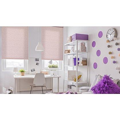 """Рулонная штора ролло """"Волнистые узоры"""", розовый, 50 см (ax-100299), фото 2"""