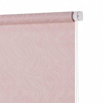"""Рулонная штора ролло """"Волнистые узоры"""", розовый, 50 см (ax-100299), фото 4"""