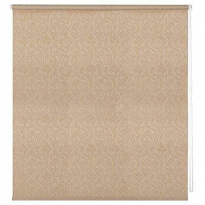 """Рулонная штора ролло """"Волнистые узоры"""", золотой, 60 см (ax-100305), фото 3"""