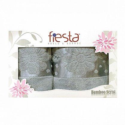 """Набор полотенец """"Florans"""",серый, 2 шт. (F-florans-se), фото 1"""
