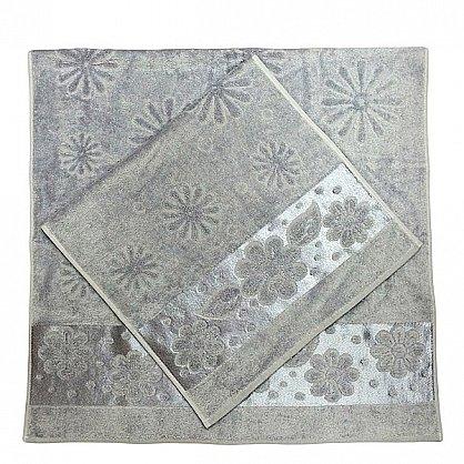 """Набор полотенец """"Florans"""",серый, 2 шт. (F-florans-se), фото 2"""