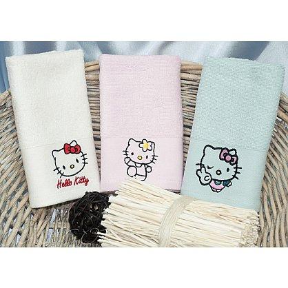 Детский набор полотенец Camomilla Bamboo, 30*50 см - 3 шт, белый, розовый, голубой (tg-HelloKitty8323-02), фото 1