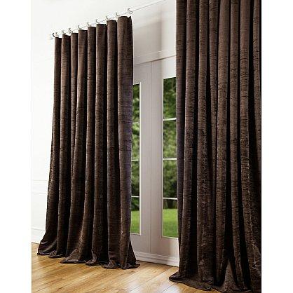 Комплект штор Бархат, коричневый, 170*260 см (bl-100165), фото 1