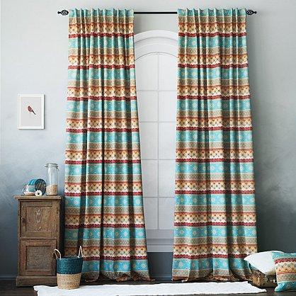 Комплект штор Уолис, синий, 170*250 см (bl-100150), фото 1