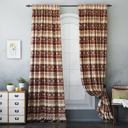 Комплект штор Уолис, коричневый, 170*250 см (bl-100148), фото 2
