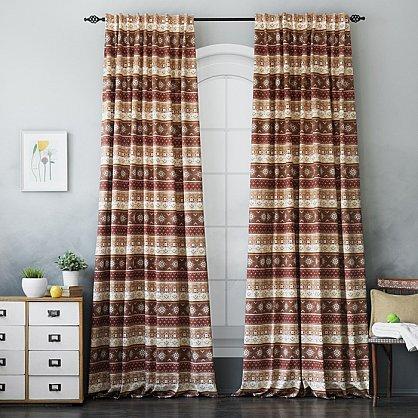 Комплект штор Уолис, коричневый, 170*250 см (bl-100148), фото 1