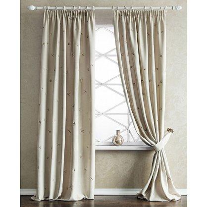 Комплект штор с вышивкой Прайм, кремовый, 145*280 см (bl-100738), фото 1