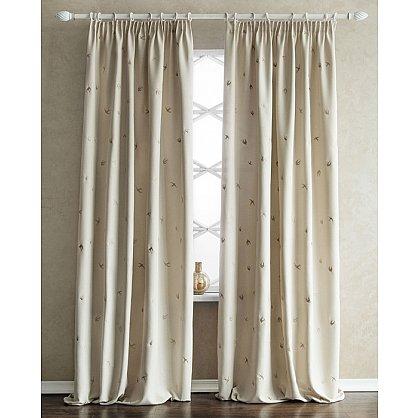 Комплект штор с вышивкой Прайм, кремовый, 145*280 см (bl-100738), фото 2