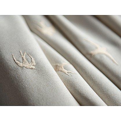 Комплект штор с вышивкой Прайм, кремовый, 145*280 см (bl-100738), фото 4