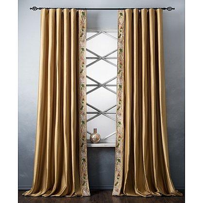Комплект штор с вышивкой Шарлиз, золотой, 200*280 см (bl-100752), фото 1