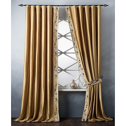 Комплект штор с вышивкой Шарлиз, золотой, 200*280 см (bl-100752), фото 2