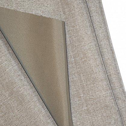 Комплект штор блэкаут-лен В505-3, бежевый (bt-200345-gr), фото 4