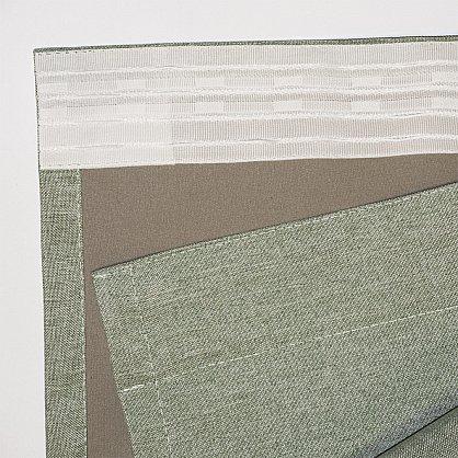 Комплект штор блэкаут-лен В505-8, оливковый (bt-200347-gr), фото 5