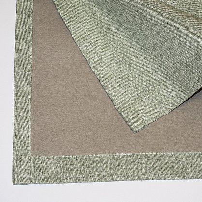 Комплект штор блэкаут-лен В505-8, оливковый (bt-200347-gr), фото 6