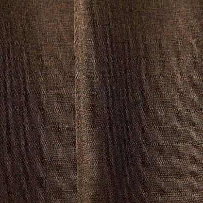 Комплект портьер блэкаут-лен B502-1, шоколадный, 250*240 см (bt-100121), фото 2