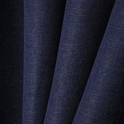 Комплект портьер димаут-лен B502-6, синий (bt-200224-gr), фото 2