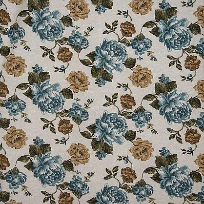 Комплект штор C450-3, синие цветы (bt-200030-gr), фото 2
