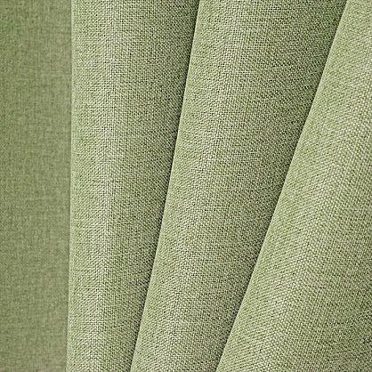 Комплект штор лен-рогожка K334-8, оливковый (bt-200268-gr), фото 2